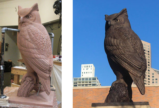 Horned Owl Bronze