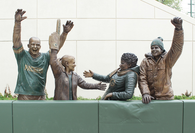 Lambeau Leap Sculpture