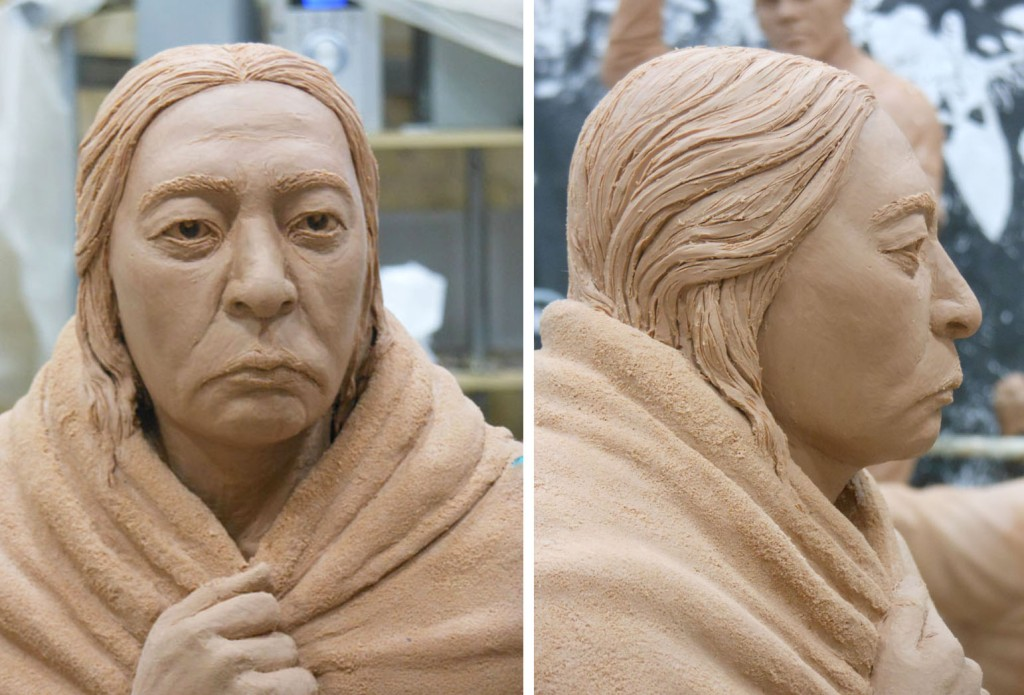 Potawatomi Clay Portrait