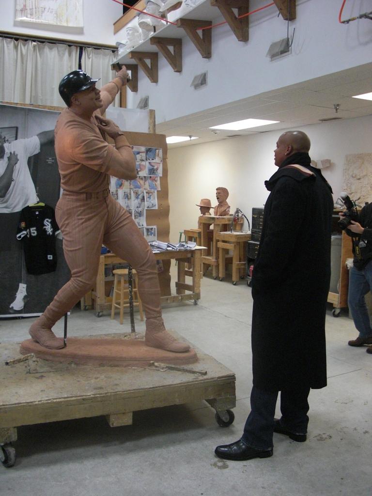Frank Thomas Visiting Sculpture Studio