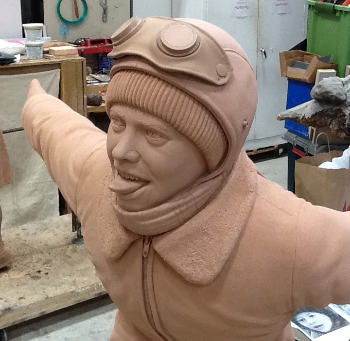 Christmas Story Flick Clay Sculpture