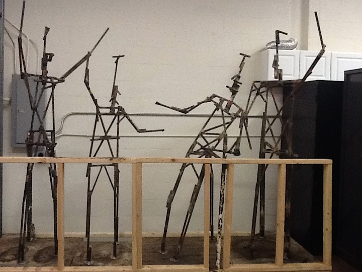 Lambeau Leap Sculpture Armatures