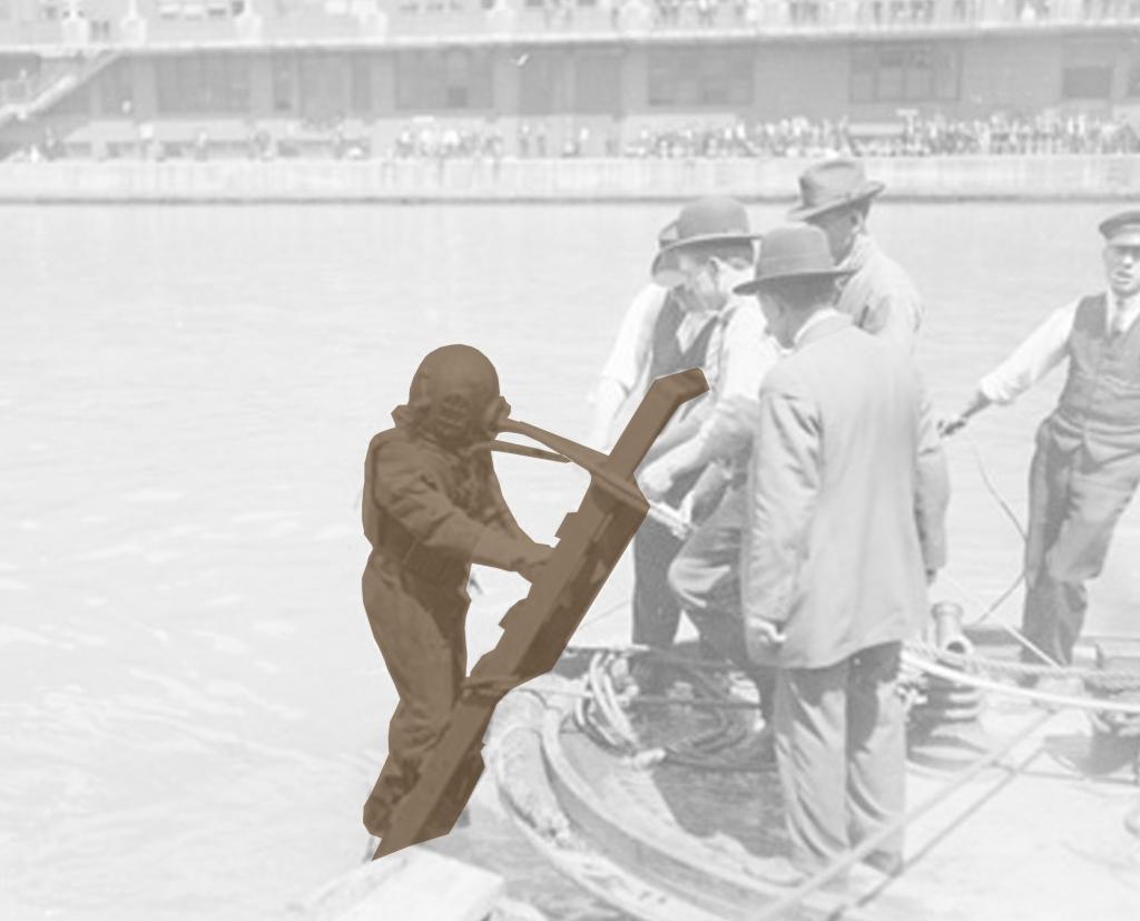 bronze diver
