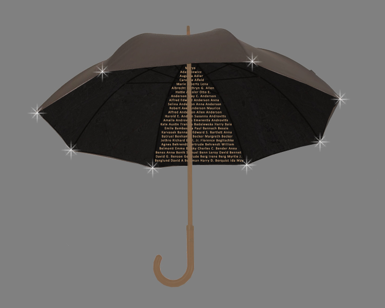 Bronze Umbrella Memorial